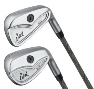 single length irons face on