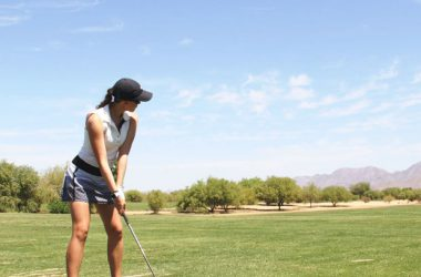 jr girl golfer