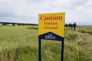 golf course at the open