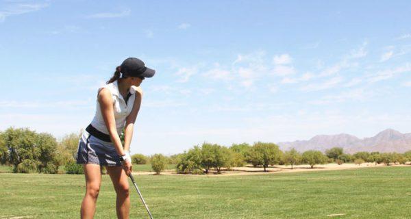 jr girl golfer